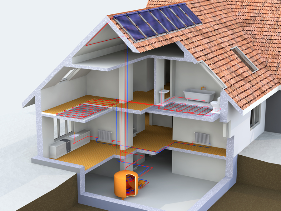Hydronic-System-in-a-house